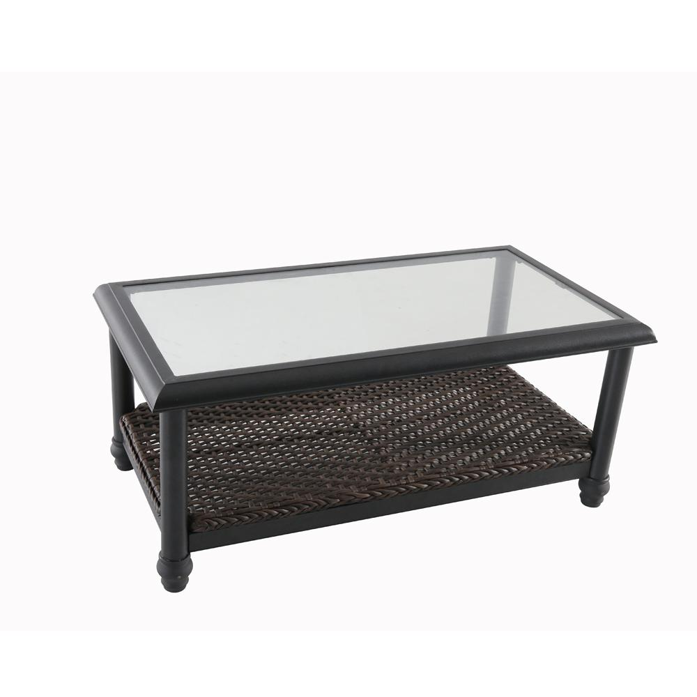 Aluminum Patio Coffee Table: Home Decorators Collection Camden Dark Brown Wicker