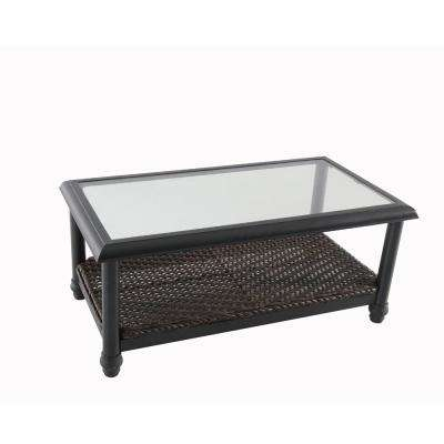 Camden Dark Brown Wicker Outdoor Coffee Table
