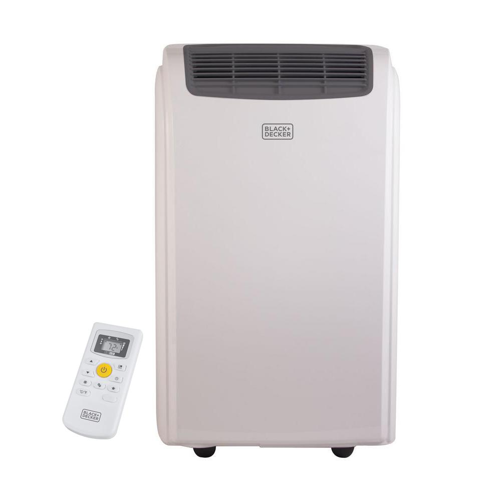 Black Decker 14 000 Btu Portable Air Conditioner With Dehumidifier And Remote Control In White