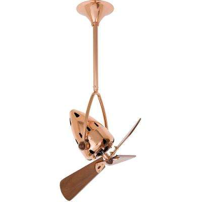 Jarold Direcional 16 in. Indoor/Outdoor Polished Copper Ceiling Fan with Wall Control