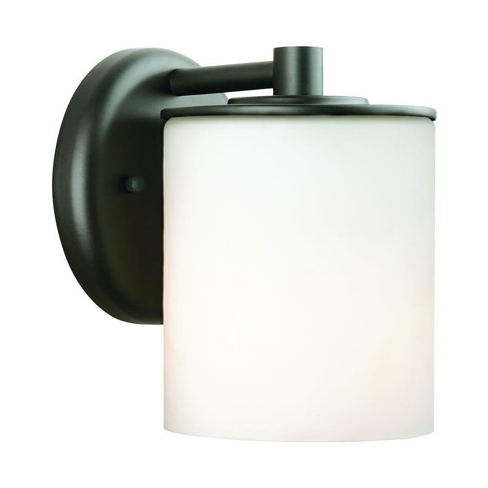 Midnight 1-Light Black Outdoor Wall Lantern