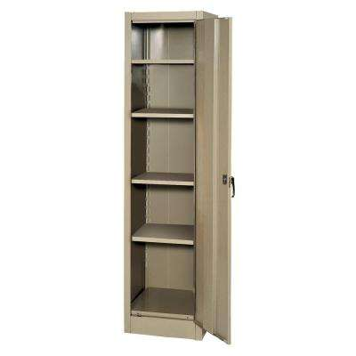 66 in. H x 18 in. W x 18 in. D 4-Shelf Steel Freestanding Storage Cabinet in Tan