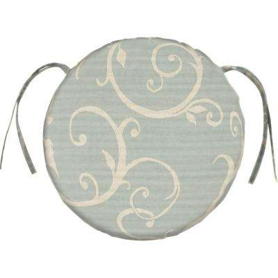 Sunbrella Cabaret - Bluehaze Round Outdoor Seat Cushion