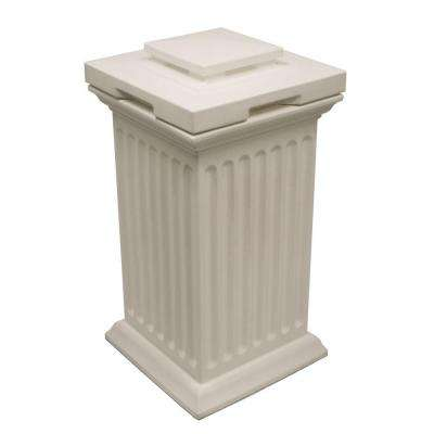 Savannah 16 in. x 16 in. x 38 in. Polyethylene Column Waste and Storage Bin in White