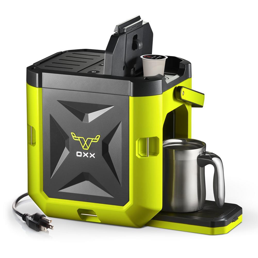 COFFEEBOXX Single Serve Coffee Maker in Hi Viz Green