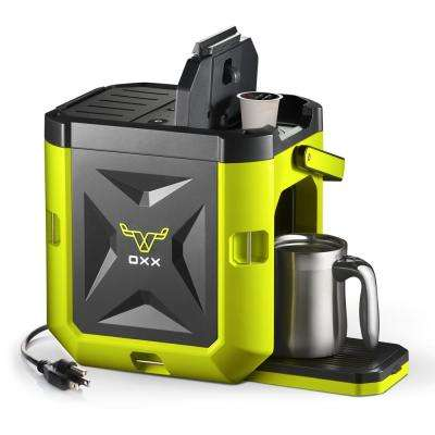 COFFEEBOXX Single Serve Coffee Maker in Hi Viz Green