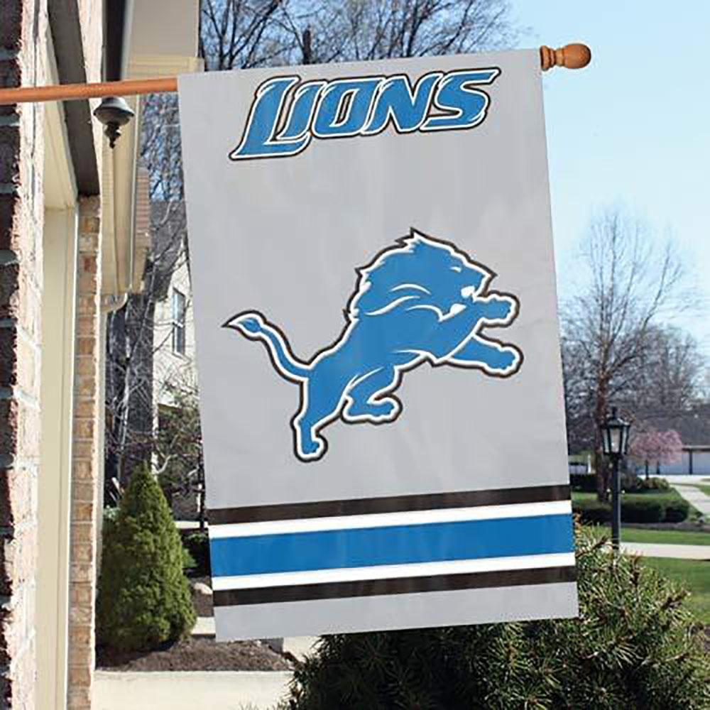 Detroit Lions Two Sided Embroidered Nylon House Flag