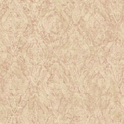 The Wallpaper Company 56 sq.ft. Pink Damask Wallpaper-DISCONTINUED