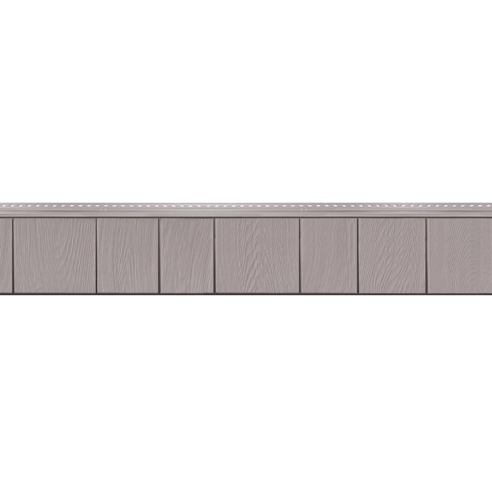 8-1/2 in. x 60-3/4 in. Heritage Grey Engineered Rigid PVC Shingle Panel 7.5 in. Exposure (32 per Box)