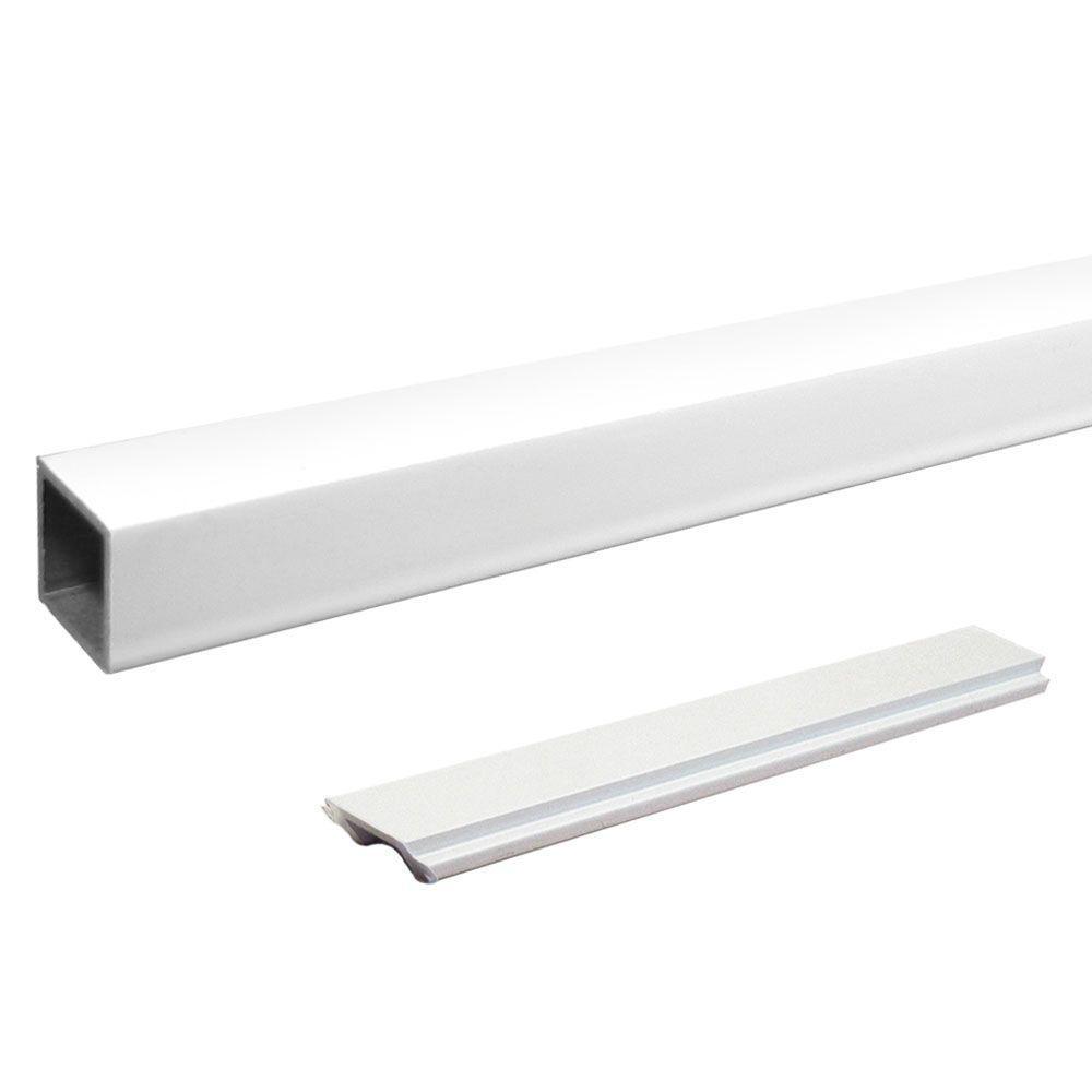 Peak Aluminum Railing Aluminum Single Standard Stair Picket and Spacer Kit in White