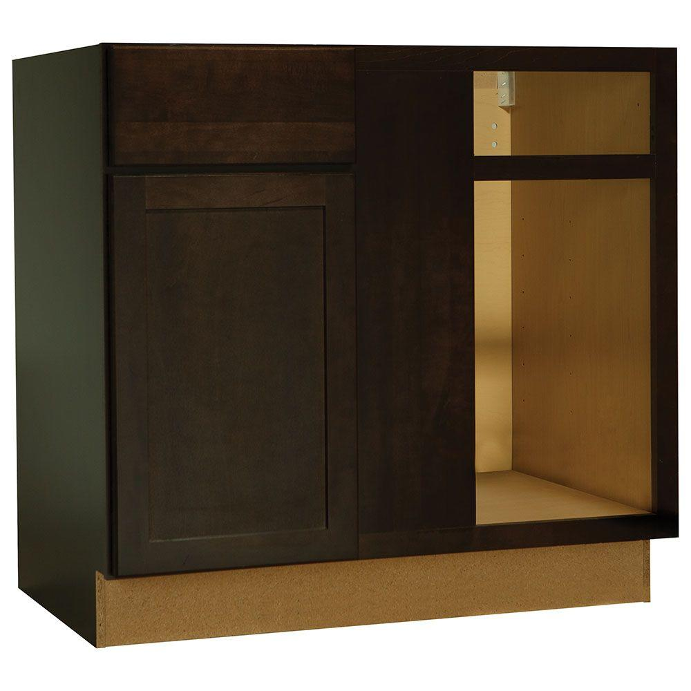 Hampton bay shaker assembled in blind base for Assembled kitchen units
