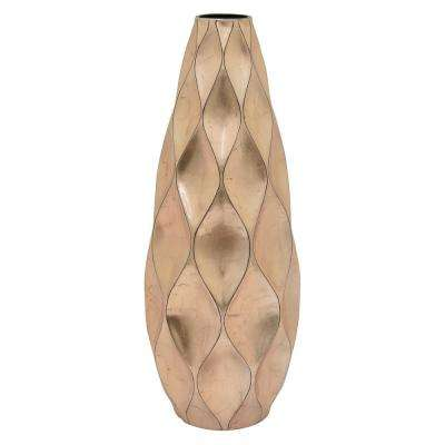 24.5 in. Rose Gold Ceramic Vase