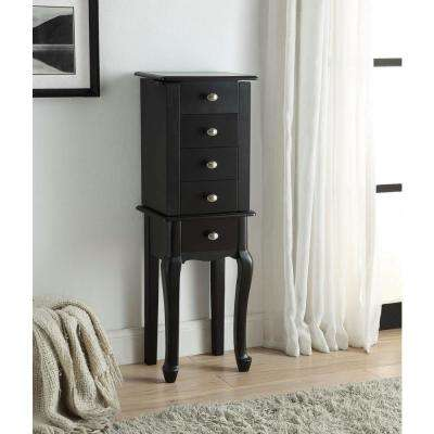 Priscilla Jewelry Armoire in Black