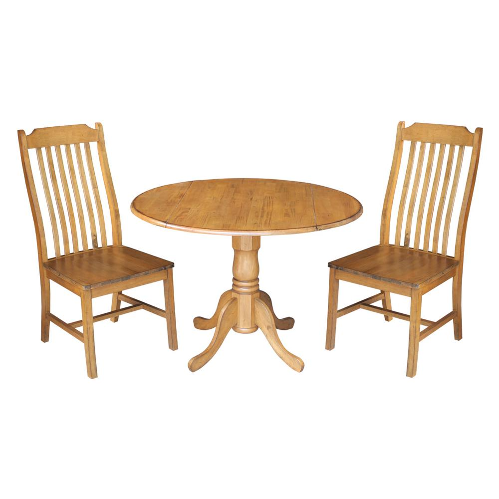 International Concepts 3-Piece Distressed Pecan Dining Set