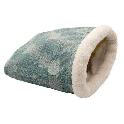 Kitty Crinkle Sack 15 in. x 18 in. Teal Cat Bed
