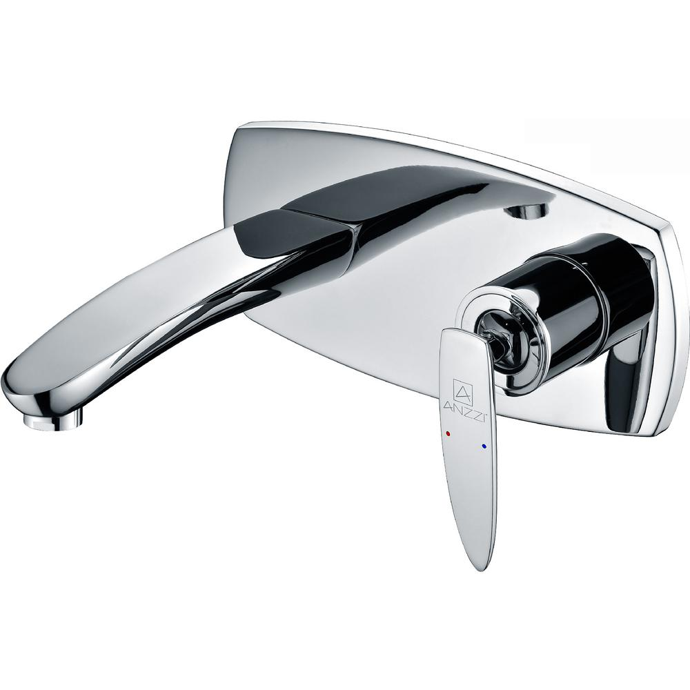 Voce Series Single-Handle Wall Mount Bathroom Faucet in Polished Chrome