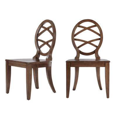 Home Decorators Collection Haze Oak Finish Dining Chair with Oval Back (Set of 2) (20.24 in. W x 36.87 in. H)