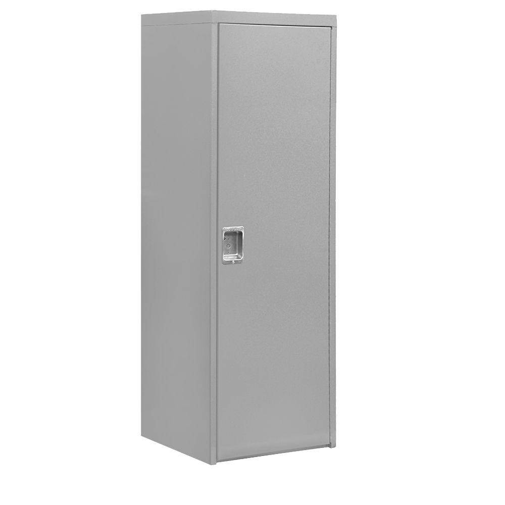 Salsbury Industries 7100 Series 24 in. W x 72 in. H x 24 in. D 1-Doors Industrial Storage Cabinet in Gray
