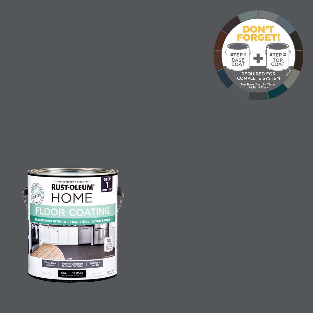 Rust-Oleum Home 1 gal. Charcoal Gray Interior Floor Base Coating