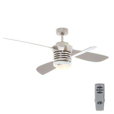 Pilot 60 in. and 52 in. Indoor Brushed Nickel Ceiling Fan with Light Kit and Remote Control