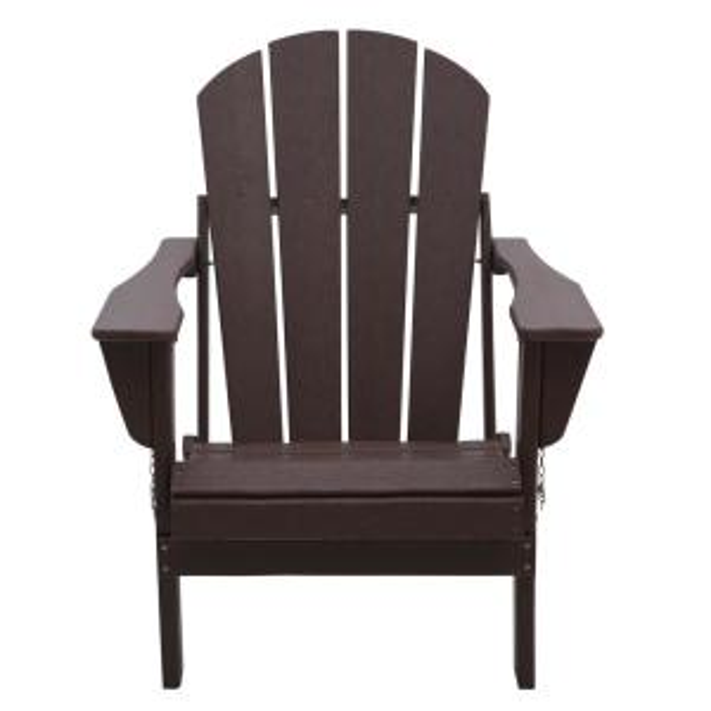 Addison Dark Brown Folding Poly Outdoor Adirondack Chair