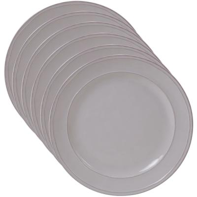 Orbit 6-Piece Cream 9 in. Salad Plate Set