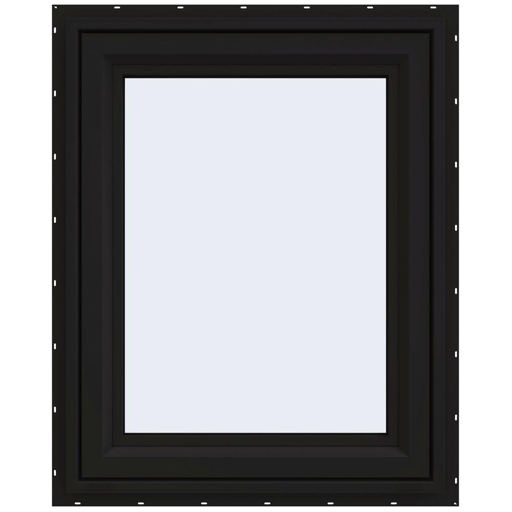 29.5 in. x 35.5 in. V-4500 Series Left-Hand Casement Vinyl Window - Black