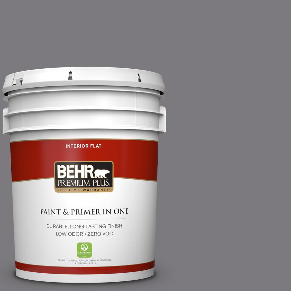 BEHR Premium Plus 5-gal. #BXC-58 Stormy Gray Flat Interior Paint