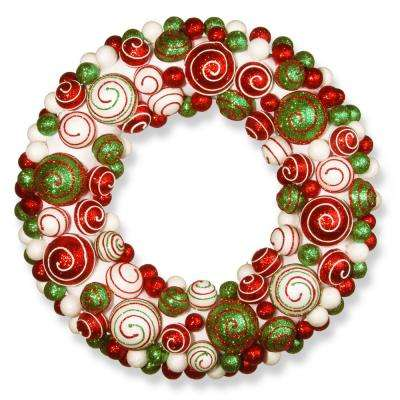 20 in. Ornament Artificial Wreath