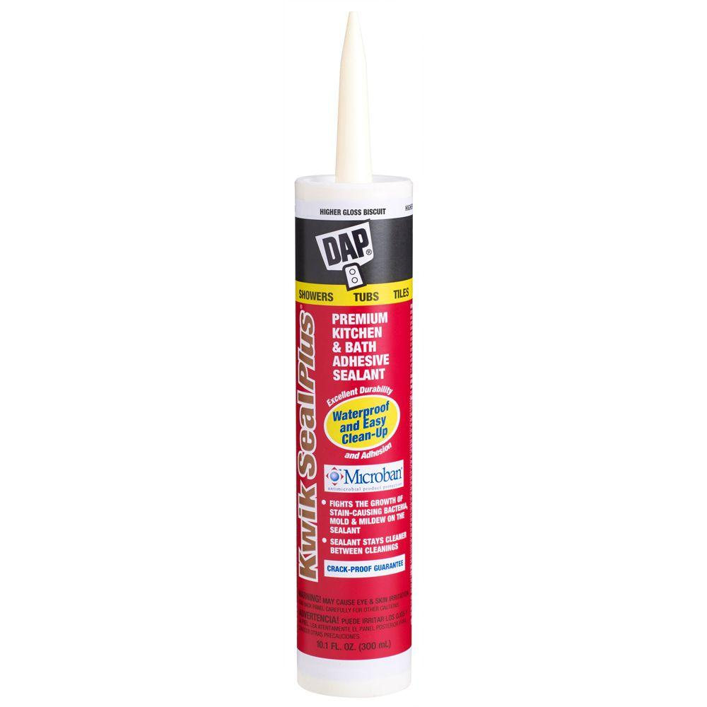 DAP Kwik Seal Plus 10.1 oz. Biscuit Kitchen and Bath Adhesive Caulk with Microban