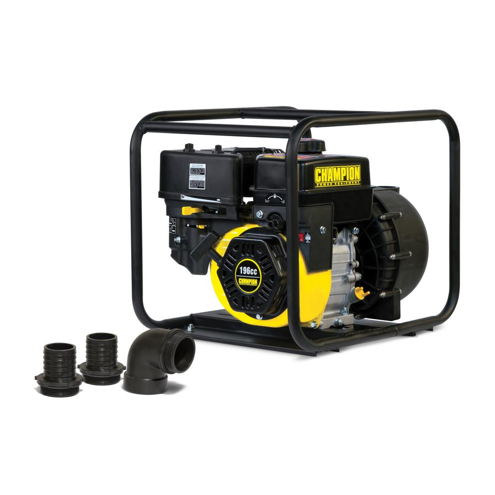 Champion Power Equipment 2 in  Gas-Powered Chemical Water Transfer Pump  with Clear Water Fittings
