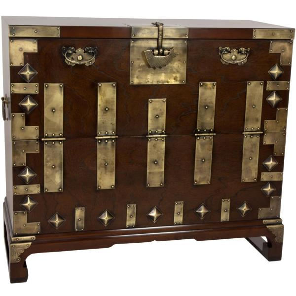 Oriental Furniture Brown Trunk KRN-H-8
