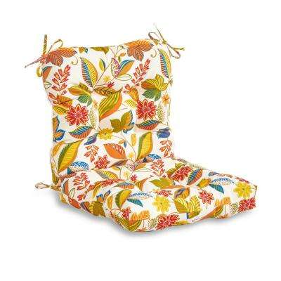Esprit Floral Outdoor Dining Chair Cushion