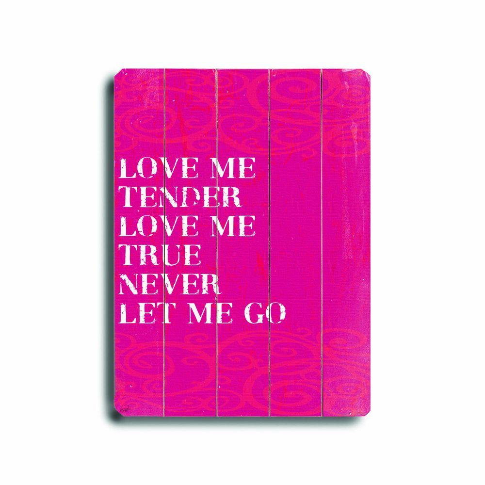 ArteHouse 14 in. x 20 in. Love Me Wood Sign-DISCONTINUED