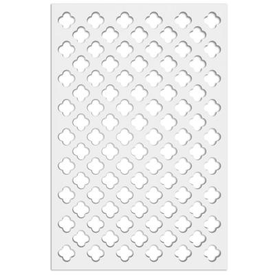 Clover 32 in. x 4 ft. White Vinyl Decorative Screen Panel