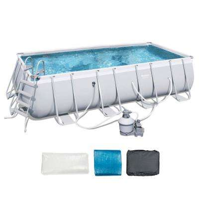 18 ft. x 9 ft. x 48 in. Deep Steel Metal Frame Rectangular Above Ground Pool