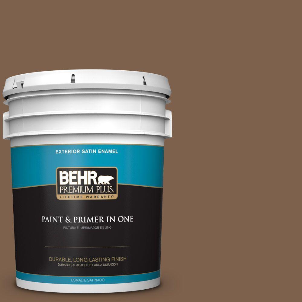 5-gal. #HDC-CL-13 Sassafras Tea Satin Enamel Exterior Paint