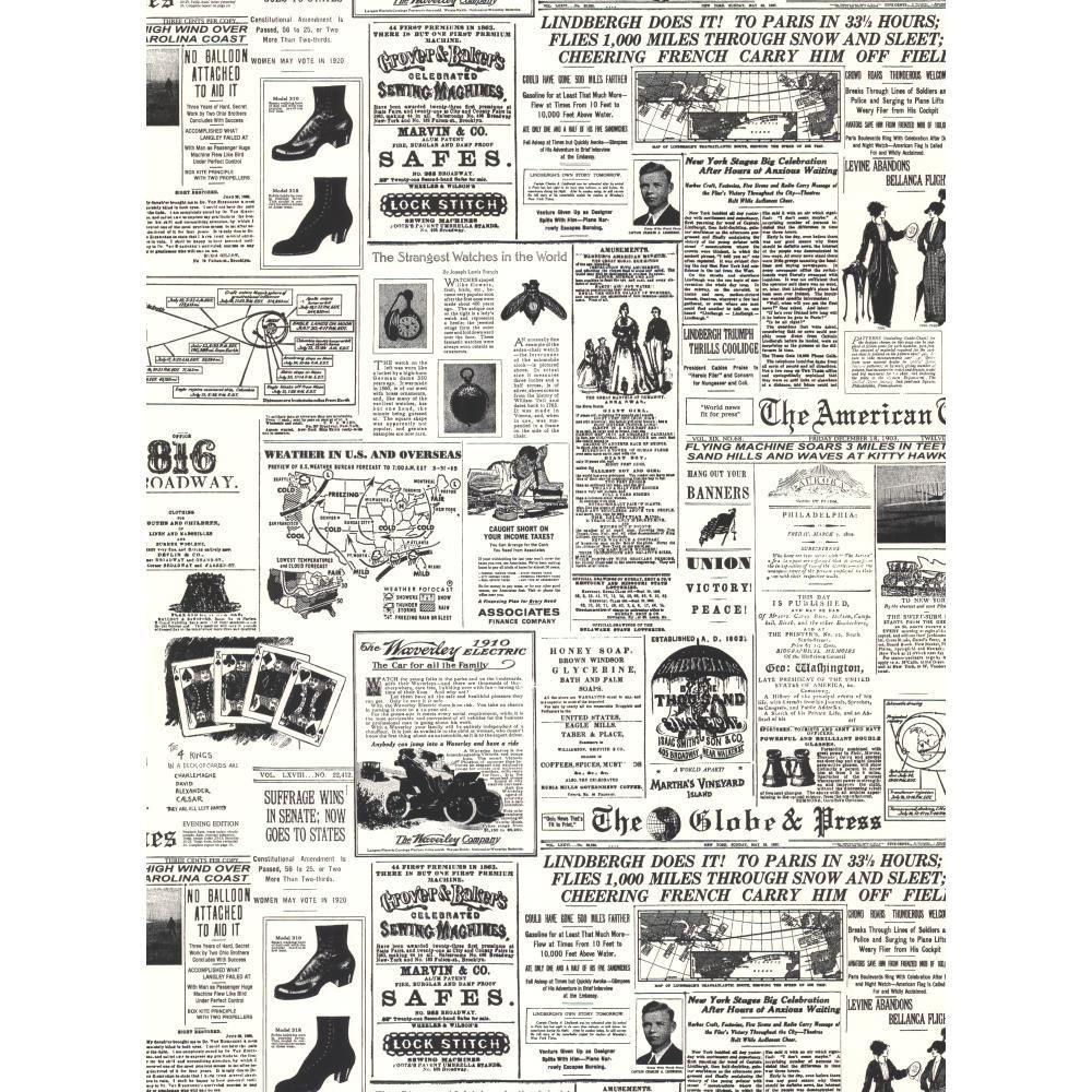 york wallcoverings headline news wallpaper-kw7620 - the home depot