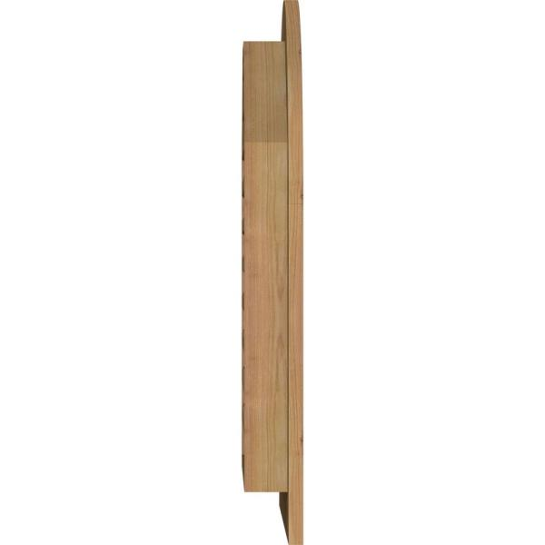 Ekena Millwork 21 X 41 Round Top Unfinished Rough Sawn Western Red Cedar Wood Gable Louver Vent Functional Gvwrt16x3601rfuwr The Home Depot