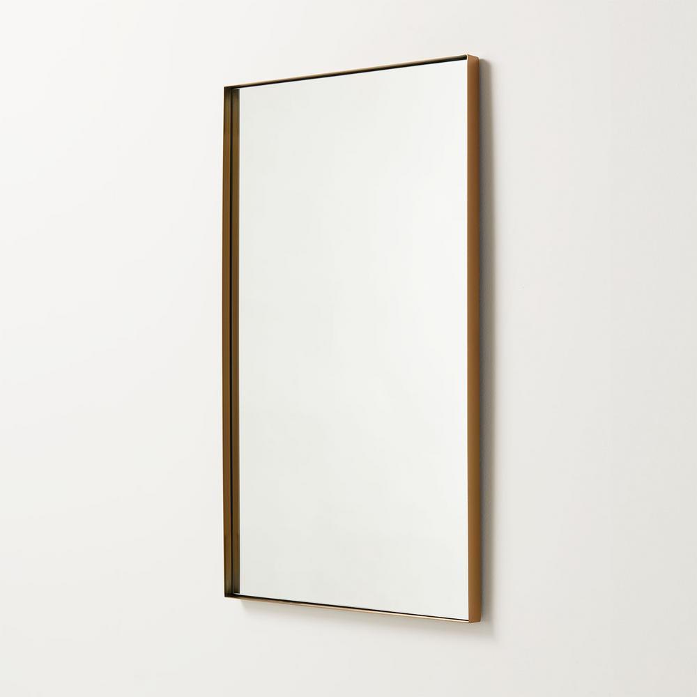Antique Brass, 30 X 40 Framed Bathroom Mirror