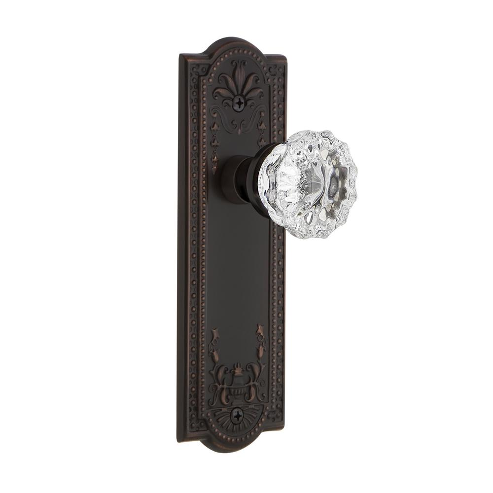 Gentil Nostalgic Warehouse Meadows Plate Single Dummy Crystal Glass Door Knob In  Timeless Bronze