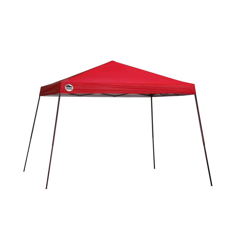 ST81 12 ft. x 12 ft. Red Slant Leg Canopy