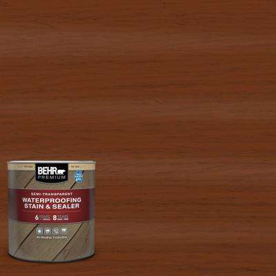 1 qt. #ST-130 California Rustic Semi-Transparent Waterproofing Exterior Wood Stain and Sealer