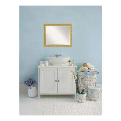 Versailles Antique Gold Wood 32 in. W x 26 in. H Single Traditional Bathroom Vanity Mirror