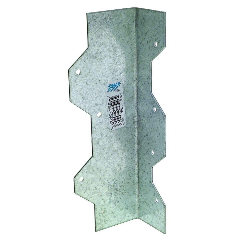 Simpson Strong-Tie 7 in. 16-Gauge ZMAX Galvanized Reinforcing L Angle