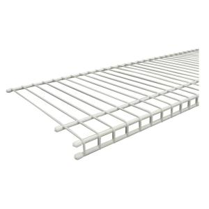 ClosetMaid SuperSlide 96 In. W X 12 In. D White Ventilated Wire Shelf 4718    The Home Depot