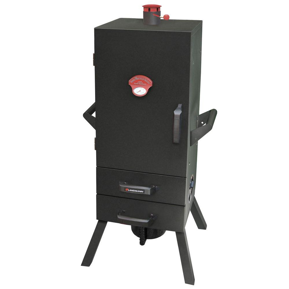 Smoky Mountain 34 in. Vertical Charcoal Smoker with 2 Drawer Access