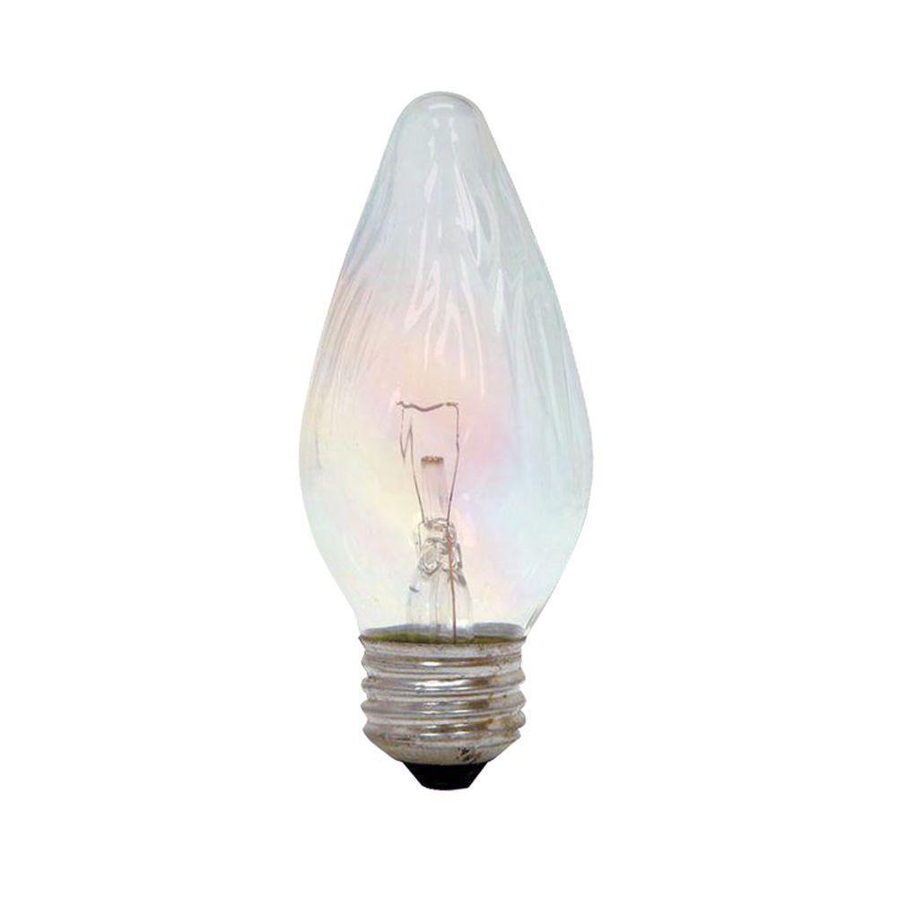 40-Watt Incandescent F15 Flame Tip Decorative Auradescent Light Bulb (2-Pack)