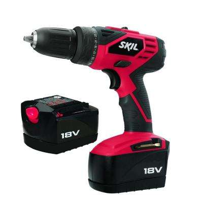 18-Volt Ni-Cad 1/2 in. Cordless Electric Variable Speed Power Drill/Driver Kt with Carrying Case