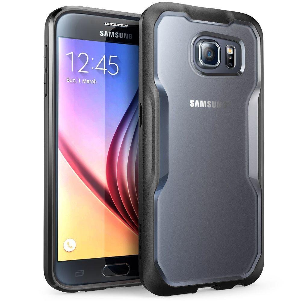 SUPCASE Unicorn Beetle Hybrid Bumper Case for Samsung Galaxy S6, Frost/Black